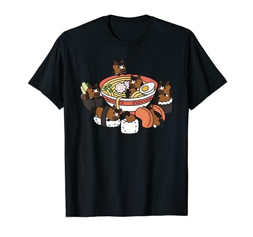 Ramen Sushi Caballo Mascota Camiseta