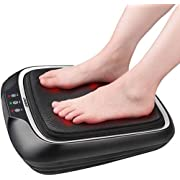 RENPHO Electric Shiatsu Foot Massager with Heat and Deep Kneading, Foot Massage Machine with Washable Cover for Plantar Fasciitis, Tired Feet, Foot Pain Relief