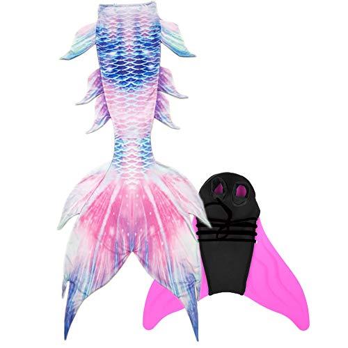 Guter Handwerker Mädchen Meerjungfrauenschwanz zum Schwimmen Mermaid Tail für Kinder und Erwachsene INBEGRIFFEN Monoflosse (Rose, X-Small)