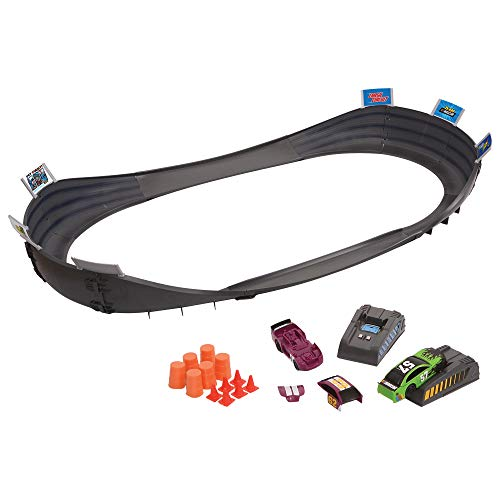Far Out Toys NASCAR Crash Circuit Short Track Speedway | 2 Electric Powered Cars, 2 Flash Chargers, 6 Driver and Pit Crew Figurines, 3.7 Ft Assembled | Capture The Momentum and Thrill of Nascar