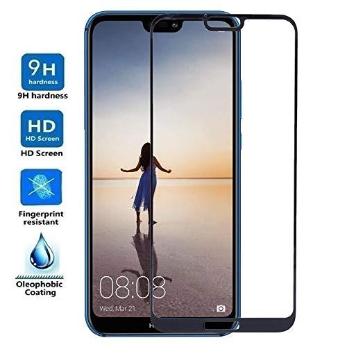 - Protector de Pantalla Curvo para Huawei P20 Lite - Nova 3E, Negro, Cristal Vidrio Templado Premium, 3D / 4D / 5D