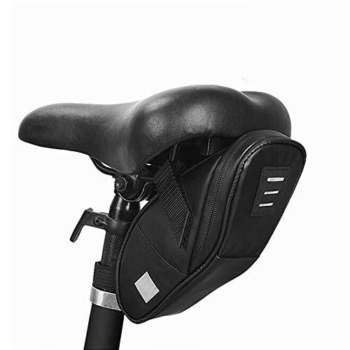 Bolsa de sillín de Bicicleta para Exteriores Bolsa de Asiento de Bicicleta de 10x12x14 cm Bolsa de Manillar para Bicicleta de Ciclismo Bolsa de Manillar para Bolsa de Asiento Trasero Bolsa,Negro