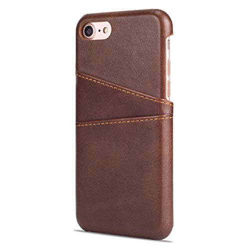 Carcasa Para Iphone,Marrón Anti-Rasguños Y A Prueba De Golpes Soft Leather Funda De Carga Inalámbrica Tienen Iphone 7-12 Todos Los Modelos Protective Flexible Antideslizante Teléfono Case, Ip