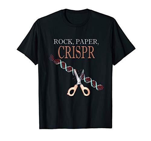 Crispr Schere Stein Papier Wissenschaft Biologie Biologen T-Shirt
