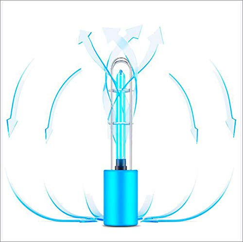 Smilewx UV LED-sterilisatielicht Oplaadbare luchtreiniger USB DC5V Ultraviolet ozon UV Kiemdodende lamp Draagbaar sterilisatielicht voor auto Keuken Toiletkast Masker Telefoon Computer,Blue