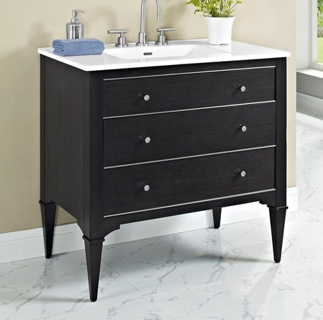Fairmont Designs 1511-V36 Charlottesville 36 Vanity - Vintage Black