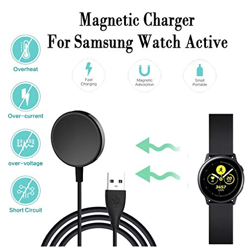 CHshe®-Cargador Inalámbrico, Cargador Inalámbrico de Carga Rápida Power Dock Para Samsung Galaxy Watch Active 2
