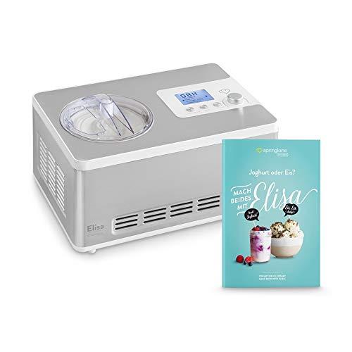 RESULTADOS PERFECTOS: En tan solo 45 minutos, Elisa prepara 2 litros de helado cremoso sin congelación previa y, gracias a su dispositivo calefactor integrado, transforma la leche en yogur en pocas horas. VERSÁTIL: Esta heladera y yogurtera dispone d...