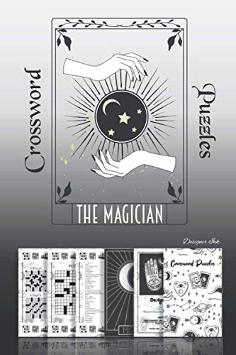 Crossword Puzzles: Professional Themed Tarot New Age Spiritual Art Interior. Fun, Easy to Hard Words for ALL AGES. Magician.