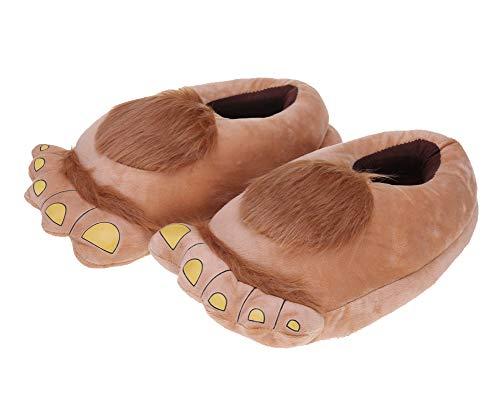 Unisexo Suave Felpa Dibujos Animados Zapatillas Novedad Cosplay Disfraz Animal Pata De Oso Zapatos Albaricoque 40/43 EU