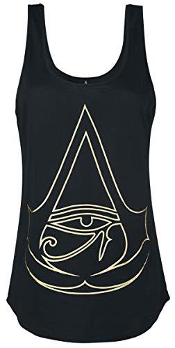 Assassin's Creed Origins - Logo Girl-Top schwarz XS