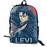Yuotry backpack Zaino Attack On Titan Anime Levi Ackerman Canvas Mochila escolar Mochilas ligeras Mochila para estudiantes Mochila de viaje Mochila para portátil para unisex