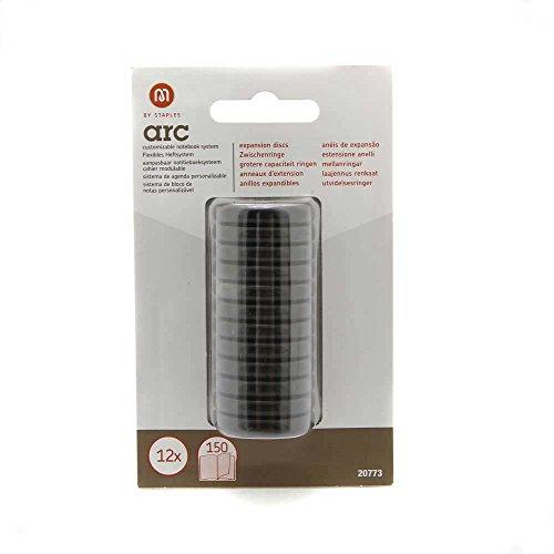 Zwischenringe ARC schwarz Durchmesser 25.4mm 12 Stück