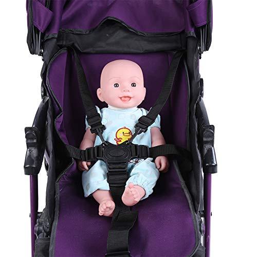 Regolabile 5 Punti Cintura Imbracatura Titolare Sicurezza Cinture per Passeggino Universale Seggiolone Cinghie Sostituzione Bambino Protezione per 2 3 4 5 Anni Ragazzi Ragazze per Mangiare Giocare