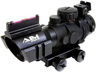 AIM Sports 4x32 Fiber Optic Advanced Combat Red/Green Dot Tactical Rifle Scope