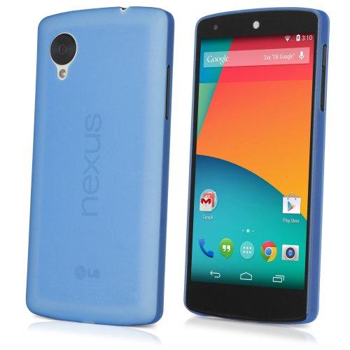 Google Nexus 5 Case, BoxWave [SecondSkin Case] Lightweight, Super Thin Flex Cover for Google Nexus 5 - Azure Blue