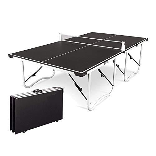 Tischtennisplatte, Tisch Tragbarer Hause faltbar Standard Carry Einfache Handgriffe und Räder Easy Setup Innen