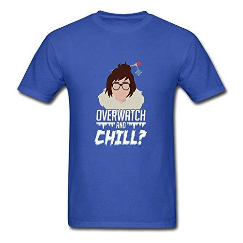 Exquisita Camiseta Overwatch Mei y Camiseta Chill de Algod¨®n para Casual