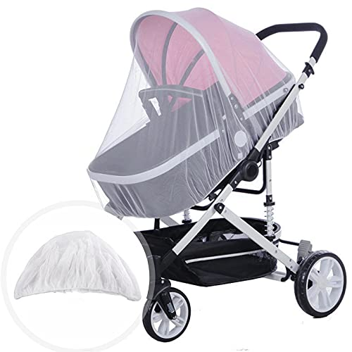 Raycity Pram Net, Pram Mosquito Net Universal Fly Bug Insect Net Protection Cover for Pushchair Car, Buggy and Carrycot, Stroller Bassinet