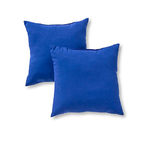 Greendale Home Fashions Outdoor Accent Pillows, Marine Blue, Set of 2