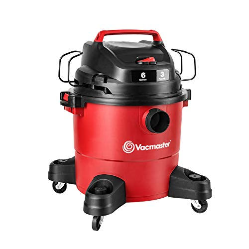 Vacmaster Red Edition VJF607PF 1101 Portable Wet Dry Shop Vacuum 6 Gallon 3 Peak HP 1-7/8 inch Hose