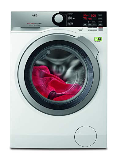 AEG L8FE74485 Independiente Carga frontal 8kg 1400RPM A+++ Blanco - Lavadora (Independiente,...