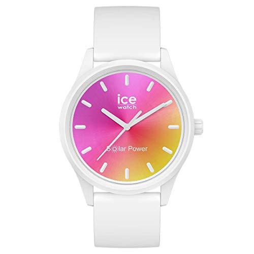 ICE-WATCH ICE Solar Power Sunset California - Reloj Blanco para Mujer con Correa de Silicona, 018475 (Small)