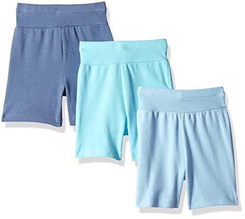Product Image of the Hanes Ultimate Baby Flexy 3 Pack Adjustable Fit Knit Shorts, Blues, 0-6 Months
