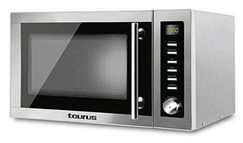 Taurus - Microondas Taurus Laurent-Microondas (900 W, 25 litros capacidad, 14 niveles de potencia, multiples funciones), gris