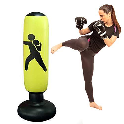 LTTQB opblaasbare bokskolombeker, hoogwaardig PVC, makkelijk mee te nemen en duurzaam, dikke en slijtvaste bodem, bokszak voor volwassenen