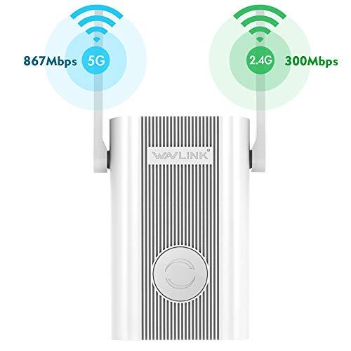WAVLINK 1200Mbps Amplificador de Rango WiFi Señal 2.4 + 5 GHz Amplificador de Wi-Fi de Banda Dual Repetidor/Punto de Acceso Inalámbrico Ap