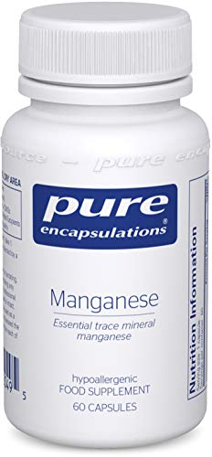 Pure Encapsulations - Manganese 8mg - Highly Bioavailable Essential Trace Mineral Manganese Supplement - 60 Vegetarian Capsules