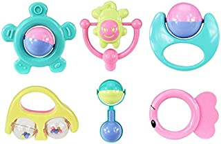 Baby Toys, 6pc Animal Baby Handbells Developmental Toy Bells For Kids