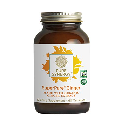 Pure Synergy Organic SuperPure Ginger Extract 60 Capsules w/Shogaols amp Gingerols