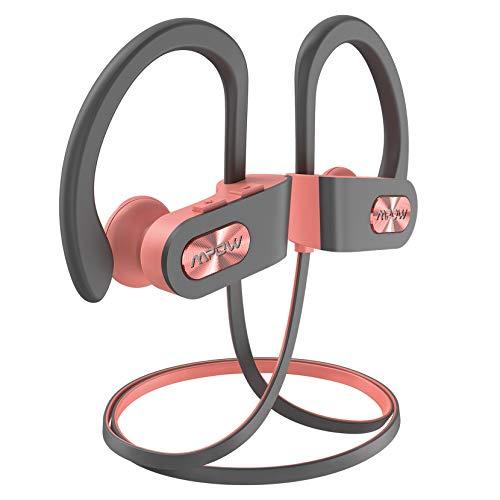 Mpow FLAME2 Bluetooth Headphones Sport, 12Hrs & Bluetooth 5.0 Wireless Sport Earphones, IPX7 Waterproof Running Headphones W/CVC 6.0 Noise Cancelling Mic, Bluetooth Earphones w/Comfort-Slantin, Blue