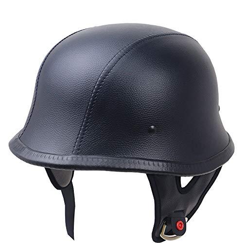 SXC Motorrad Harley -Halb offener Helm Jet-Helm Roller Retro Mofa Scooter-Helm Chopper Motorrad-Helm, DOT/ECE-Zulassung für Männer und Frauen, Geeignet für Kopfumfang 57-66 cm