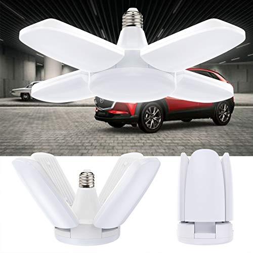 Lampada da Garage Vintoney 60W 6500K 6000Lm con 4 Pannelli Regolabili Plafoniera LED per Garage Magazzino Officina Cantina Palestra Cucina - Bianco Freddo
