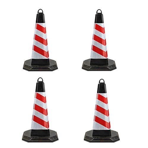 AJZXHE Warnkegel Warnkegel, Sicherheitskegel, Verkehrssicherheit Cone Verkehrssteuerungszeichen * 4 (H-50 cm) Sicherheitsschranken