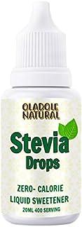 Oladole Natural Stevia Drops Zaro Calories Liquid Sweetener 20ml 400 Serving