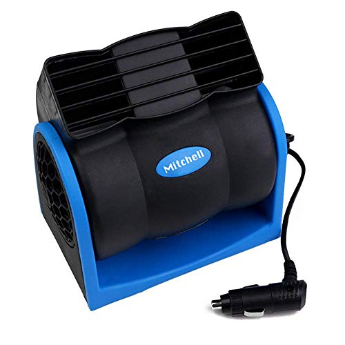 VIAVDesign 12V Car Fans Cooling Electric Car Fan for Pets Quiet 2 Speed Rear Seat Air Fan for Sedan SUV RV Boat with Cigarette Lighter Plug