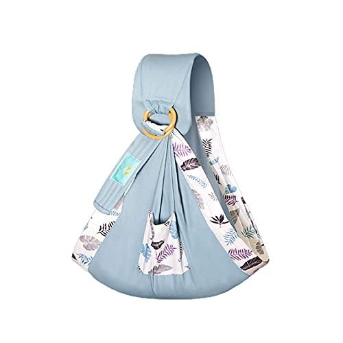 Portador de bebé, portador de cables bebé, ligero y transpirable, baby multifuncional Sling Wrap Wrap Transporte doble uso infantil cubierta toalla toalla tela algodón floral confortable lactancia mat