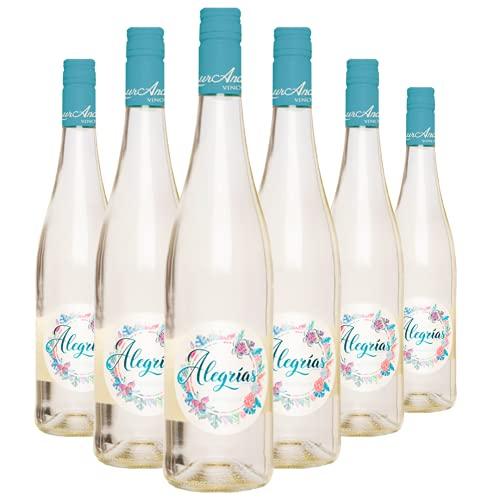 Alegrías by LaurAna - Vino Frizzante - Vino de la Tierra de Castilla- 6 botellas x 750 ml