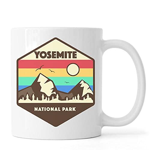 Desconocido Yosemite National Park Mountain Rage Art Taza de café de té de cerámica Blanco