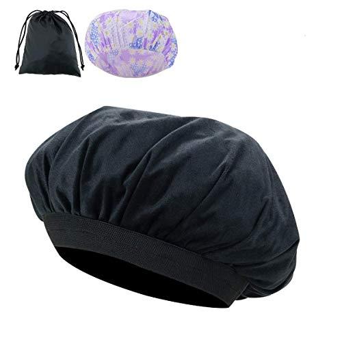Locisne Capuchon thermique conditionnement profond amovible graines lin, bonnet chauffé par micro-ondes pour revitalisants profondément endommagés hydratent le traitement de l'état