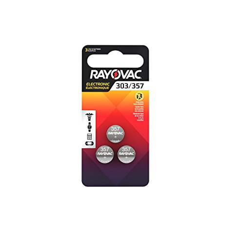 Rayovac LR44 Battery, Silver Oxide 303, 357, AG13, or SR44 1.5 Volt Batteries (3 Battery Count)
