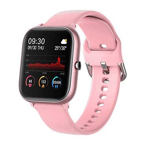 ZYDZ P8 1.4 Pulgadas Smart Watch Pantalla táctil Completa IPX7 Modo Impermeable a Prueba de Agua con Monitor de Ritmo cardíaco de Las señoras Smart Watch para iOS Android,C