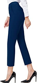 Dress Pants for Women Stretch Pull-on Pants Ease into Comfort Office Ponte Pants