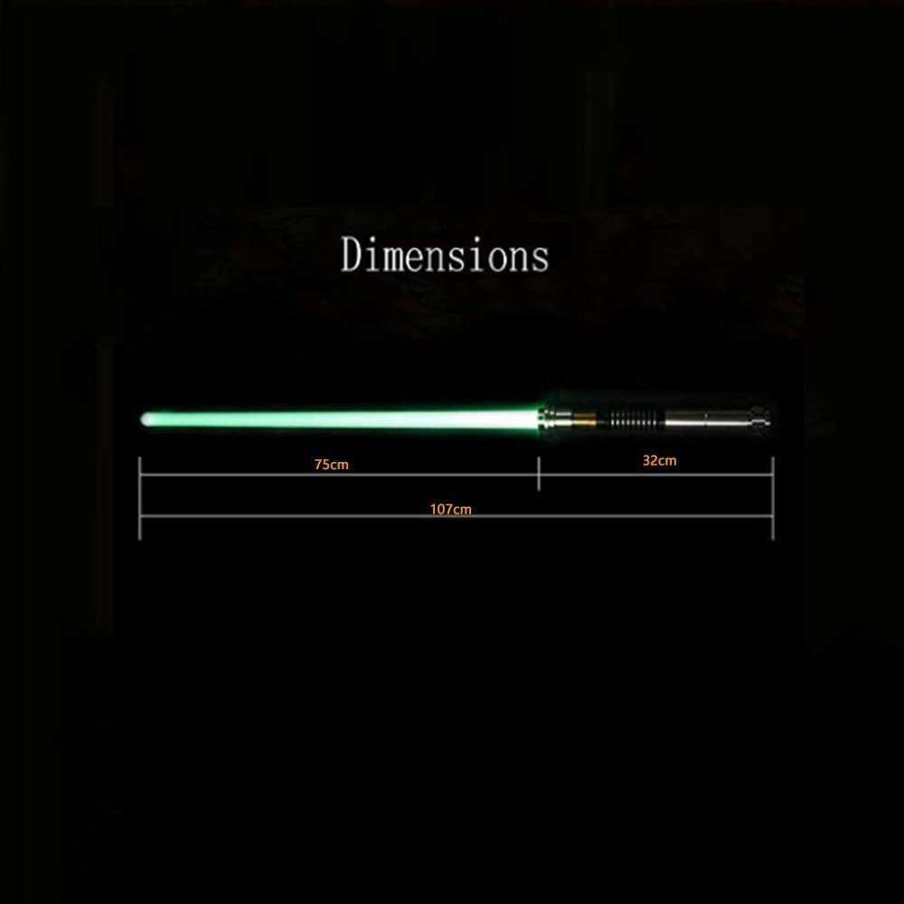 ADIS Metalen handvat kleurveranderende lichtzwaard afneembare blade geluid-zilveren handvat Zwart handvat