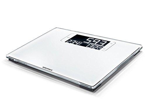 Soehnle Style Sense Multi 200 Digitale personenweegschaal, toont verschil met het gewenste gewicht, personenweegschaal met BMI-berekening, weegschaal met LCD-scherm