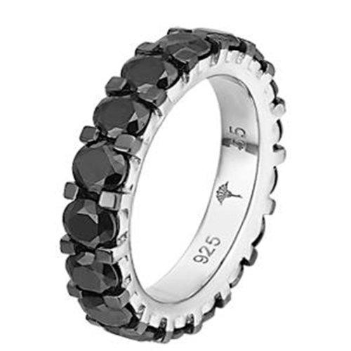 Joop Damen-Ring 925 Sterling Silber rhodiniert Kristall Zirkonia Sandra Schwarz